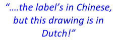 """….the label's in Chinese, but this drawing is in Dutch!"""